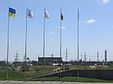 Флагштоки из нержавеющей стали 6-14м, фото 3