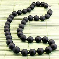 Бяньши черный нефрит, Ø10 мм., бусы, 263БСБ, фото 1