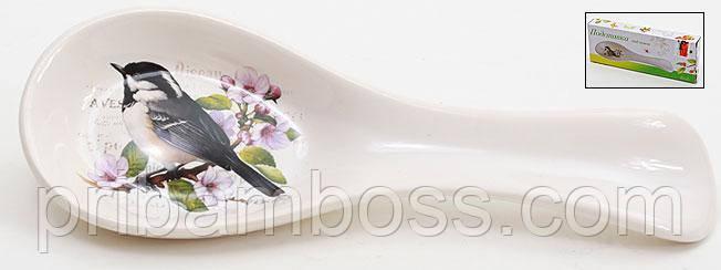 Подставка под ложку керамическая 25см Птицы