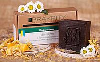 Натуральное мыло «Дегтярное с пчелиным воском» с отваром зверобоя, календулы, ромашки, шалфея