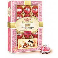 Шоколадные конфеты  Победа в коробке  Трюфели Тирамису с марципаном в горьком шоколаде с сыром маскарпоне.