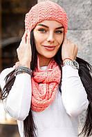 Молодежный вязаный набор: шапка и шарф. 5 цветов!