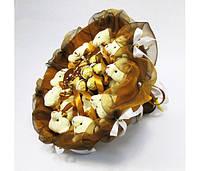Букет из игрушек Мишки 9 золотисто-коричневый с Ферреро Роше