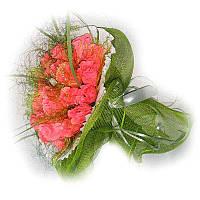 Букет из конфет Коралловые розы 19