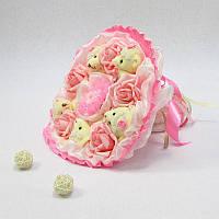 Букет из игрушек Мишки 5 розовые