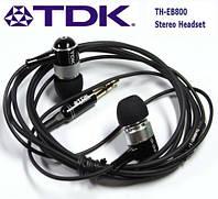 Вакуумные наушники TDK с микрофоном (качество)