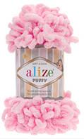 Турецкая пряжа Alize Puffy 100% микрополиэстер розовый №185