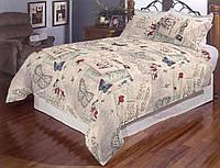 Двуспальное постельное белье Gold - Бабочка