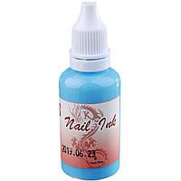 Краска для Аэрографа Nail Ink (Aqua Blue)