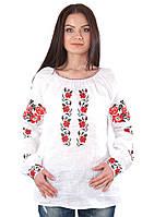 Вышитая женская блузка Розы (S-3XL)