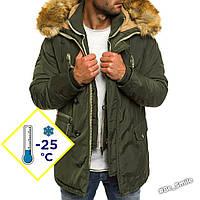Куртка мужская теплая (зимняя, до -25С) хаки