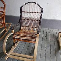 Кресло-качалка из лозы и ротанга арт 2809, фото 1