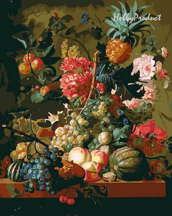 Набор-раскраска по номерам Цветы и фрукты худ. ван Брюссель Паулюс Теодор, фото 2