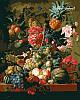 Набор-раскраска по номерам Цветы и фрукты худ. ван Брюссель Паулюс Теодор