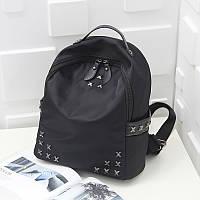 Уценка.Черный нейлоновый городской рюкзак
