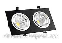 Светильник Downlight LED  BR-002 14вт 230в  черный  3000К IP20, фото 3