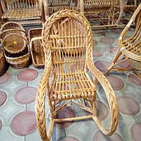 Кресло-качалка из лозы для детей