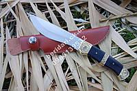 Нож туристический  фараон ,кожаные ножны ,массивный клинок