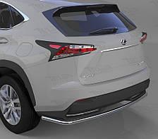 Защита заднего бампера на Lexus NX (с 2014--) Can Otomotiv d42 mm