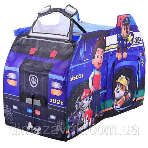 """Детская игровая ПалаткаM 3527 Bambi """"Щенячий патруль. Полицейская машина"""""""
