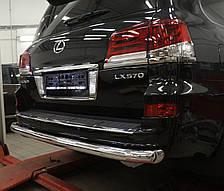 Защита заднего бампера на Lexus LX (с 2014--) Can Otomotiv d76 mm
