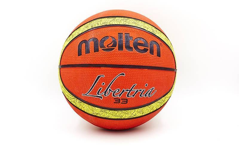 Мяч баскетбольный резиновый №6 MOLTEN B6T2000-TI