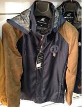 Стильная мужская куртка с вильветовыми вставками