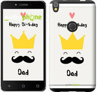 "Чехол на iPhone X Happy Birthday dad ""4083c-1050-2911"""