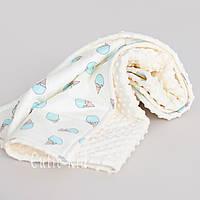 """Одеяло-плед  для новорожденного """"Mint Ice Cream"""""""
