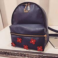 Рюкзак ткань- эко-кожа с цветочками