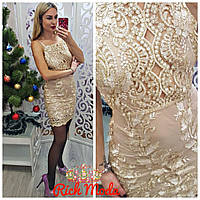 a2c1cb694e4 Женское платье из органзы с вышивкой . ИТ-59-1117