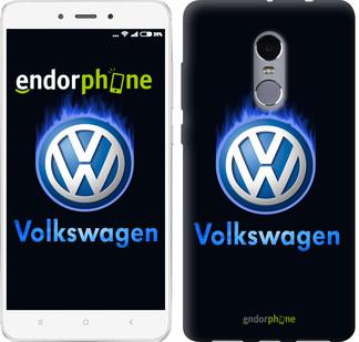 "Чехол на Xiaomi Redmi Note 4 Volkswagen. Fire logo ""3141c-352-2911"""