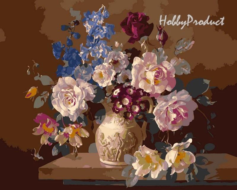 Набор-раскраска по номерам Цветы в скульптурной вазе худ. худ. Клейтон  Гарольд