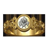 Кольцо «ГОСПОДИ ПОШЛИ БЛАГОДАТЬ ТВОЮ В ПОМОЩЬ МНЕ»