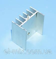 Радиатор Ш-образный  25*23*16.5 алюминий, белый (под корпус ТО-220/247), Китай