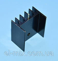Радиатор Ш-образный  25*23*16.5 алюминий, черный (под корпус ТО-220/247), Китай