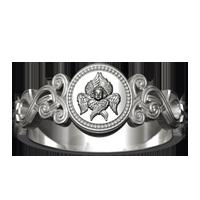 Кольцо с Серафимом и молитвой «ГОСПОДИ ПОШЛИ БЛАГОДАТЬ ТВОЮ В ПОМОЩЬ МНЕ»