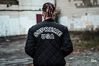 Куртка Supreme зимняя стеганная,унисекс (мужская,женская)