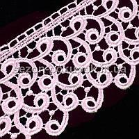 (9 метров) Кружево макраме с кордом 10570-9, ширина 7см (цена за 9 метров).Цвет - Розовый (пудровый)