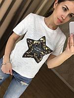 Футболка звезда паетки, фото 1