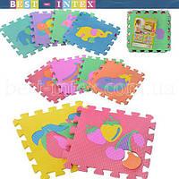 Коврик-мозаика M 0376 Фрукты и Животные (30х30 см)