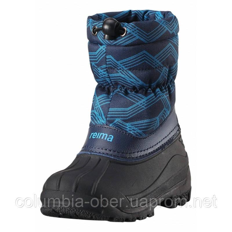 Зимние сапоги - сноубутсы  для мальчика Reima 569324-6493. Размеры 24 - 35 .