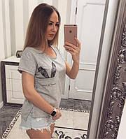 Футболка ушки зайца рр.С,М,Л, ХЛ