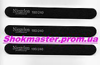Пилочка для ногтей Niegelon 180/240 узкая прямая черная