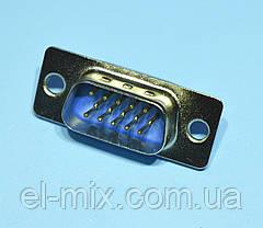 Штекер HDDB-15M 3-рядный кабельный  WTY0603