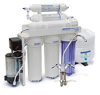 Фильтр обратного осмоса с минерализацией Aqualine RO-6 P МТ18 (с помпой)