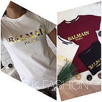 Хлопковая футболка BALMAIN МЕГА СТИЛЬНАЯ ФУТБОЛКА, фото 1