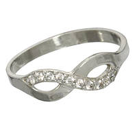 """Серебряное кольцо с фианитами """"Бесконечность"""", фото 1"""