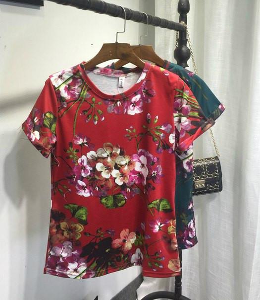 Яркие футболки GUCCI  42-46