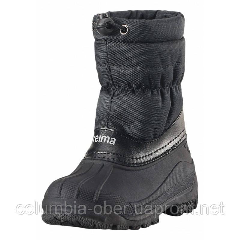 Зимние сапоги - сноубутсы  для мальчика Reima 569324-9990. Размеры 24 - 34.